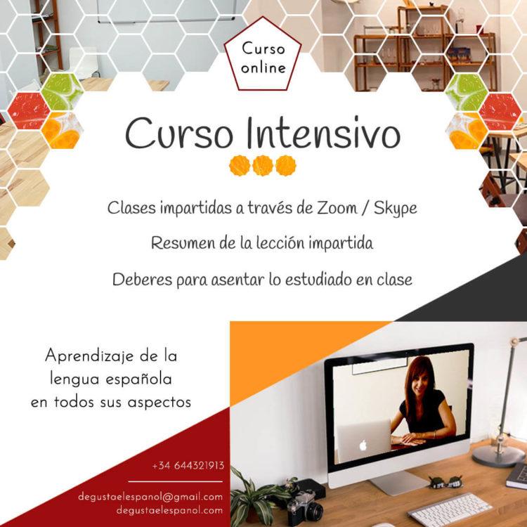 Curso intensivo de español online - Escuela Degusta el Español