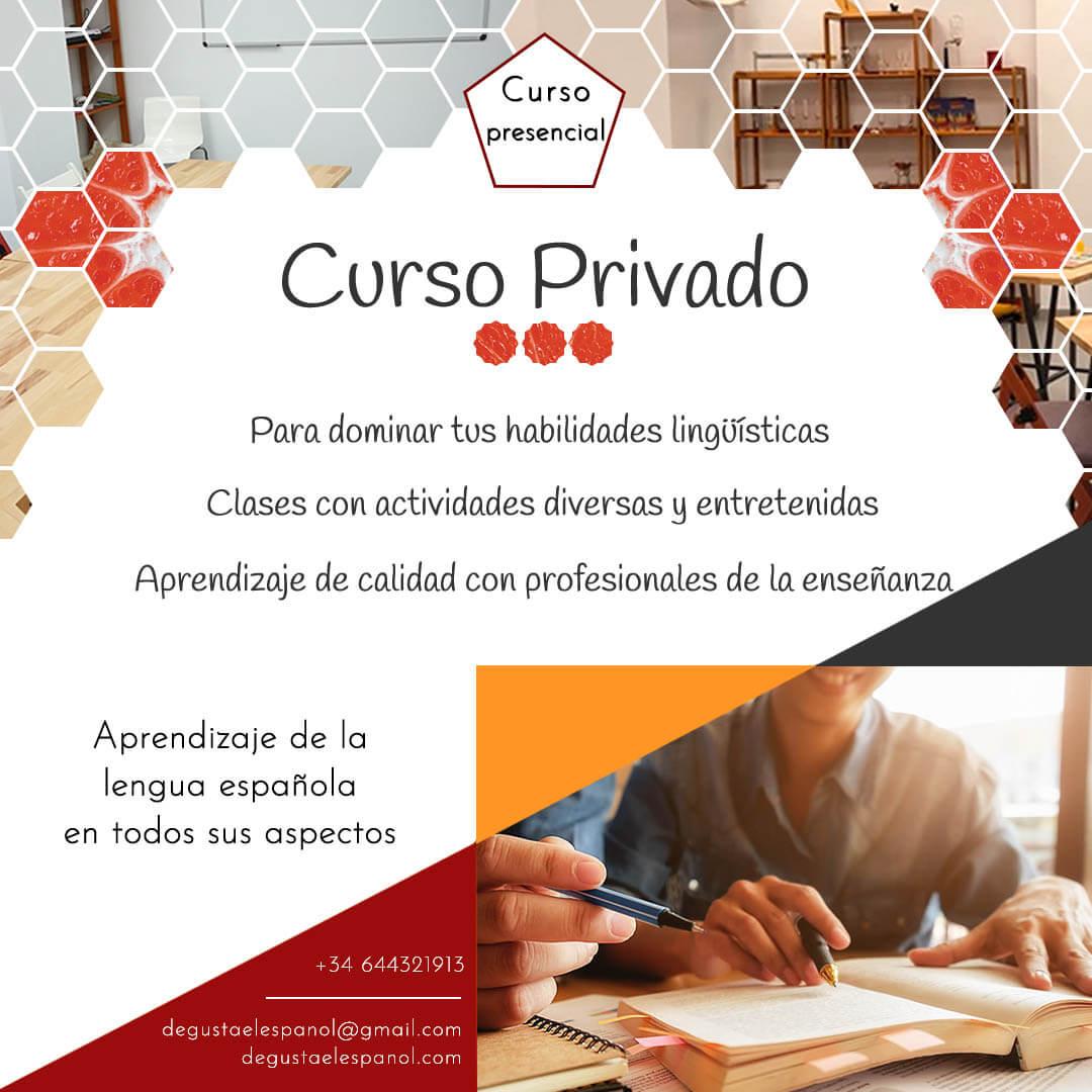 Curso privado de español presencial - Escuela Degusta el Español